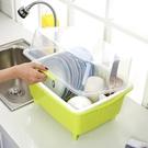塑料碗櫃廚房碗筷瀝水架碗碟架帶蓋加厚碗盤餐具置物架【快速出貨】