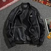 【YPRA】男裝春裝外套青年夾克休閒皮上衣棒球服