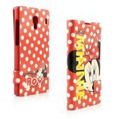 【Disney 】Xiaomi 紅米機 MISS害羞點點米妮彩繪可立式皮套