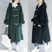 加肥加大碼女裝寬鬆200斤胖mm秋冬洋氣減齡加厚毛絨大衣外套顯瘦