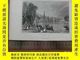 二手書博民逛書店【罕見】19世紀 銅 鋼版畫 單幅 VIEW NEAR HUY(