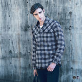 OB嚴選《KL0162-》嚴選棉質格紋磨毛襯衫‧2色--適 S~XL