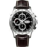Hamilton漢米爾頓 JAZZMASTER LORD 計時機械錶-黑x咖啡/46mm H32816531