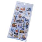 Kamio 造型鐳射光貼紙組 裝飾貼 手帳貼 SNOOPY 甜點 藍_KM23916