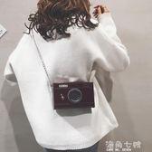 搞怪小包包搞怪小包包女新款個性漆皮相機小方包純色鏈條盒子單肩側背包 海角七號