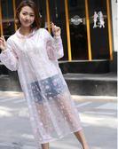 新年好禮85折 小燕子時尚旅游透明長款連體雨披成人戶外男女式單人徒步防水雨衣