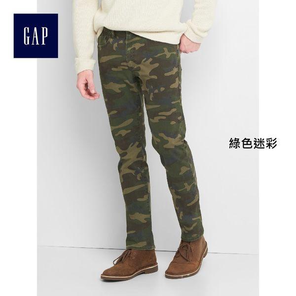 Gap男裝 迷彩五袋彈力修身長褲  200686-綠色迷彩
