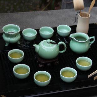 創意 汝窯陶瓷功夫茶具 梅子青西施壺茶杯