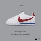 IMPACT Nike Wmns Classic Cortez Leather 白紅藍 阿甘 初代款 黑標 皮革 休閒 女鞋  經典 百搭 8807471 103