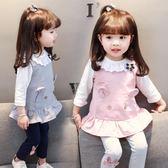 新品春秋新款1一2-3歲女寶寶韓版休閒套裝嬰兒秋季三件套女童裝潮 雙十一87折