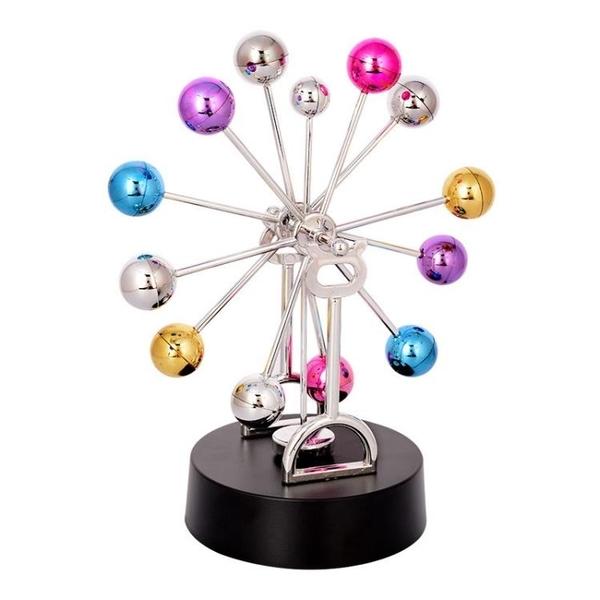 創意摩天輪彩球磁力永動儀搖擺器永動儀模型辦公桌面擺件情侶禮物 安雅家居館