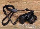 適用索尼黑卡RX100M2M3M4M5 M6理光GR2 LX10微單相機羊皮背帶肩帶「Top3c」