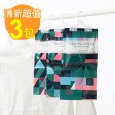 【佶之屋】清新可掛式強力防潮防霉除濕袋-三入組(七巧板x3)