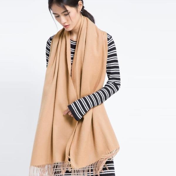 韓版加厚羊毛圍巾