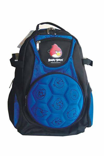 巨倫 AB-4664B2憤怒鳥足球型書背包(藍)