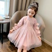 中大尺碼女童洋裝 2021秋裝新款韓版長袖公主裙兒童春秋裙子洋氣大童童裝 百分百
