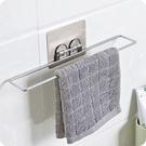 毛巾架 無痕貼浴室免打孔毛巾掛架廚房壁掛...
