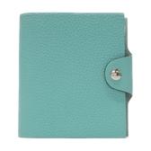 HERMES 愛馬仕 3P Blue Atoll 馬卡龍藍色牛皮筆記本套(附內頁)Ulysse Notebook Cover