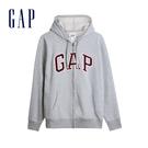 Gap男裝 Logo棉質刷毛內裡連帽外套 567863-麻灰色