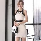 公司晚宴年酒會禮服韓國新品女裝顯瘦洋裝掛脖晚禮服修身包臀裙 安妮塔小铺