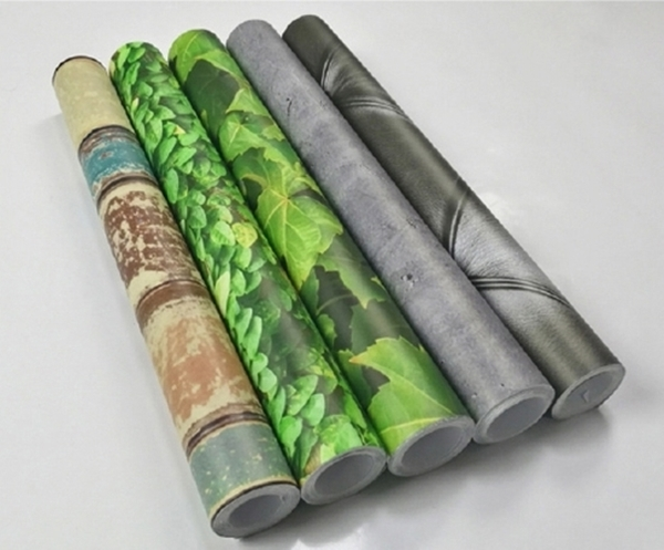 【仿3D壁紙】歐洲藝術牆紙 自黏裝飾壁貼 仿樹葉藤蔓牆皮革木紋貼紙 耐高溫防水防油仿磚貼