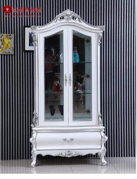 [紅蘋果傢俱] CT 新古典系列 酒櫃 實木雕花 歐式酒櫃 法式 展示櫃 櫥櫃 收納櫃 工廠直營