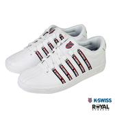 K-swiss Court 白色 皮質 休閒運動鞋 男女款 NO.B1274-J0291【新竹皇家 06562-113、96562-113】