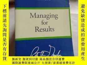 二手書博民逛書店MANAGING罕見FOR RESULTS【077】英文原版Y10970 Peter F. Drucker 彼