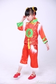 元旦喜慶兒童演出服秧歌服裝幼兒民族舞蹈新年開門紅錶演服男女童 交換禮物