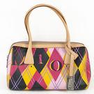 茱麗葉精品 全新精品 Christian Dior 彩色字母菱格圖案肩背包