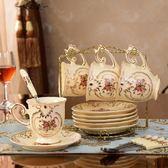 金色鐵架歐式咖啡杯架吊杯壺架不銹鋼6杯掛架水杯掛架茶杯置物架【櫻花本鋪】