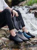 則享廚房水鞋男夏季低幫時尚短筒雨鞋防滑工作雨靴男洗車防水膠鞋