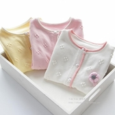 新款童裝女童棉線針織開衫外套兒童女孩子秋款上衣中大童毛衣