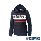 K-SWISS KS Logo Hoodie刷毛連帽上衣-女-黑