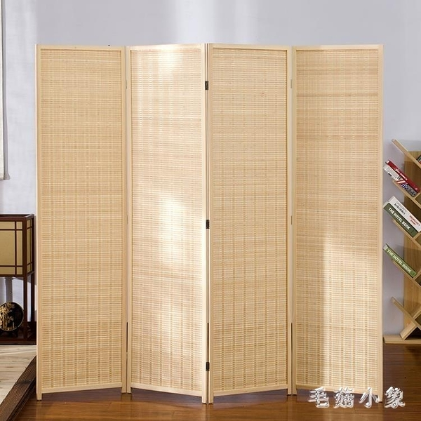 屏風 新中式屏風隔斷客廳折疊移動臥室遮擋家用擋煞簡約現代折屏隔斷墻『毛菇小象』