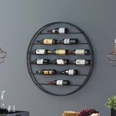 紅酒架 鐵藝墻上紅酒架壁掛酒架置物架餐廳懸掛酒瓶架創意葡萄酒架家用 MKS雙12