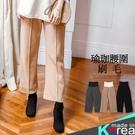 哈韓孕媽咪孕婦裝*【HB3571】正韓製.瑜珈腰孕婦褲.簡約中車線內刷毛寬褲
