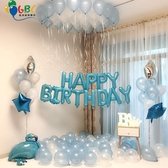 氣球 生日字母布置道具氣球浪漫成人派對ktv創意裝飾兒童生日快樂氣球 星期八