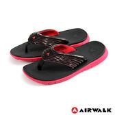 AIRWALK(男) - 發光體 性能強調彈力舒適夏日人字拖鞋 - 發光紅