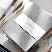 2本裝 素色布面手帳本韓國空白網格橫線筆記本文具本子記事本【宅貓醬】
