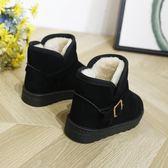 兒童雪地靴棉冬鞋新款加絨女童短靴男童寶寶中筒靴棉鞋子
