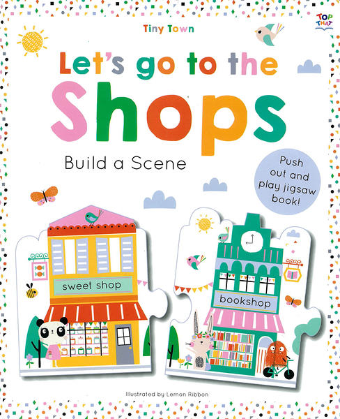 Tiny Town:Let's Go To The Shops Build A Scene 一起逛街吧!趣味拼圖書