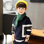 童裝男童毛衣秋冬裝中大童兒童針織衫套頭加厚韓版潮-BB奇趣屋
