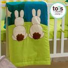 【英國smarTrike-Tots 】英國兔立體刺繡雙面被-花朵綠
