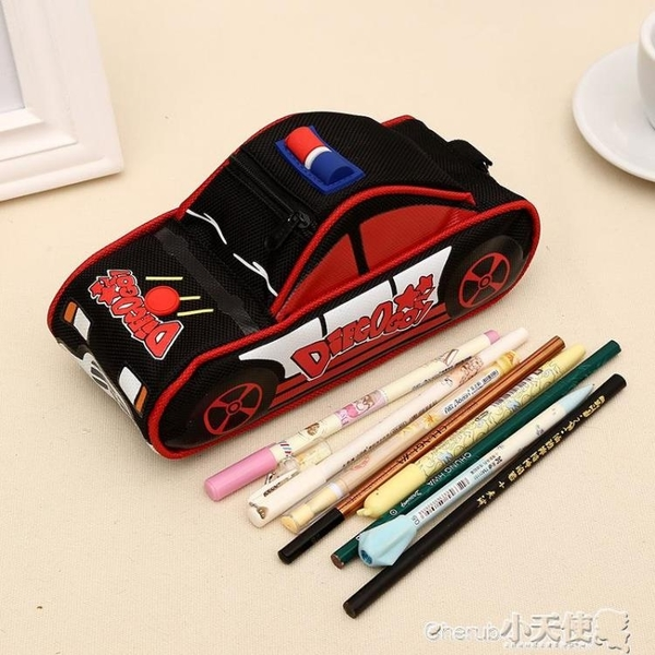 筆袋 文具盒學生韓國個性汽車鉛筆盒創意帆布大容量兒童筆袋【】新年禮物