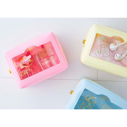 《sun-star》迪士尼法式小可愛系列PVC開窗方型小物收納包(瑪莉貓)★funbox生活用品★_UA48853