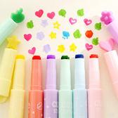 【00950】創意文具 可愛糖果色迷你印章螢光筆