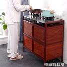 放碗櫃家用廚房櫥櫃簡易收納櫃子儲物櫃置物櫃多功能經濟型不銹鋼MBS「時尚彩紅屋」