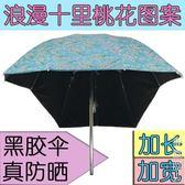 電動車遮陽傘踏板摩托車自行車三輪車雨棚蓬黑膠防曬防紫外線雨傘 igo街頭潮人