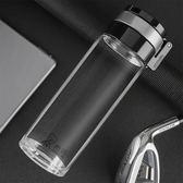 玻璃杯6076單層加厚大容量杯子濾網戶外運動學生便攜泡茶水杯